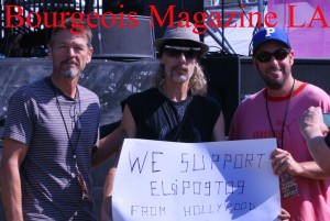 Adam Sandler and Frankie Ray show support  with Elsipogtog. before the show. Copyright 2013 Bourgeois Magazine LA