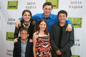 (L-R)HOLLYWOOD, CA - JUNE 14: Cast (L-R) Lillian Almohajer, Matthew King, Nick King, Sid Almohajer and Karalena Morehead arrive for the Premiere Of 'The World Famous Kid Detective' held at The Arena Theater on June 14, 2014 in Hollywood, California. Copyright 2014 Bourgeois Magazine LA