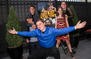 (L-R)HOLLYWOOD, CA – JUNE 14: Cast (L-R) Nick King, Sid Almohajer, Matthew Morehead, Karalena Morehead, and Lillian Almohajer during the Premiere Of 'The World Famous Kid Detective' held at The Arena Theater on June 14, 2014 in Hollywood, California. Copyright 2014 Bourgeois Magazine LA/ARNEL S SOLAS