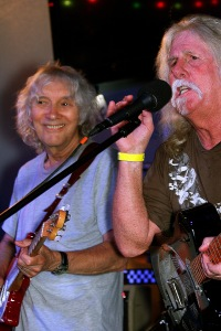 Albert Lee and Mike Wolpin during a performance at The Chop Shop Bar and Grill benefiting veterans and their families. Aug 2, 2014 Copyright 2014 Bourgeois Magazine LA
